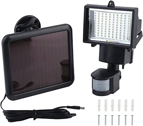 120 LED Solar Lampe Außenleuchte mit PIR Bewegungsmelder Wandleuchte Strahler DE