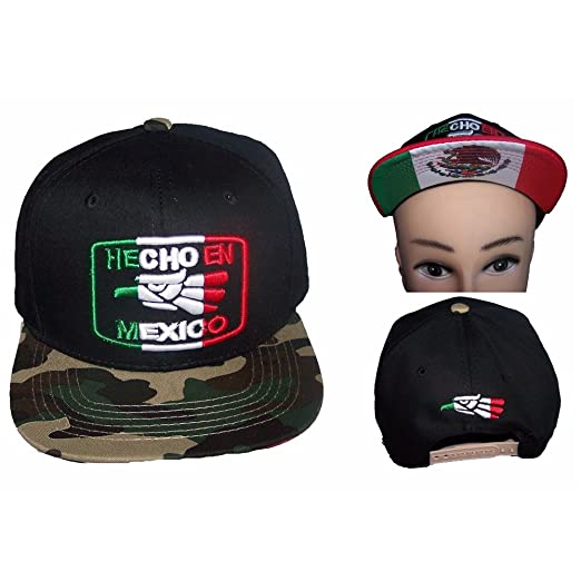 595de6c21de Image Unavailable. Image not available for. Color  Hecho En Mexico Mexican  Baseball Caps Hats ...