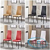 Set of 4 Faux Leather Dining Chairs Metal Chairs home & commercial restaurants
