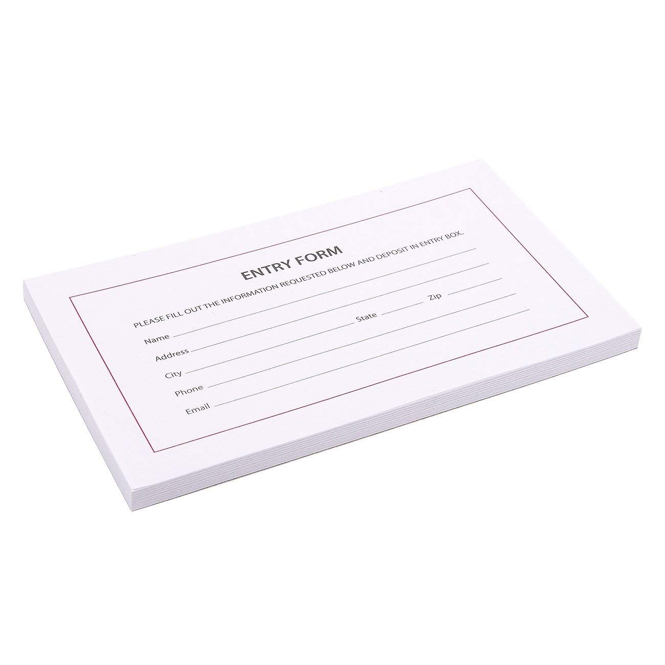 Entry Forms for Raffles 500 Folding Cards per Pack by Sutter Signs Drawings Contests