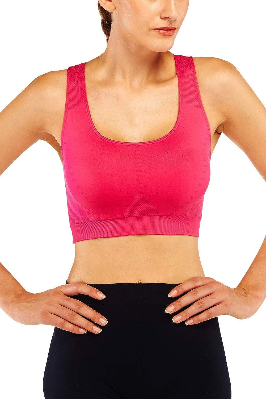KHAYA Women/'s Sports Bras High Impact Racerback Full Coverage Workout Gym Activewear Yoga Camisole Bra Top