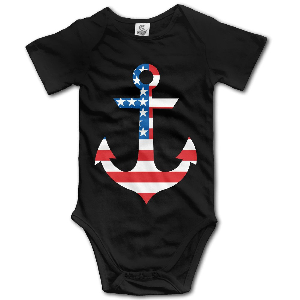 Baby Breath Babys Anchor And Flag Unisex Jumpsuit Outfits Black