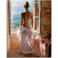 Pittura a Olio Digitale di Numero Sexy Lady Art Decor della casa della Parete Painting by Numbers su Tela Telaio Dipinto per Soggiorno No Frame Art Wall Painting