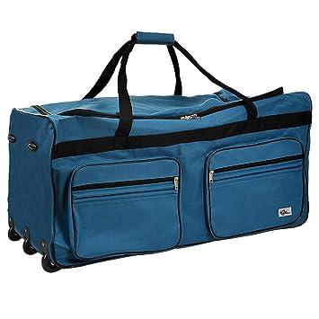 meilleur service 43f91 eafad Grand sac de voyage Bleu - Avec 3 roulettes - Bagage XXL - Sac de sport -  85x43x44 cm