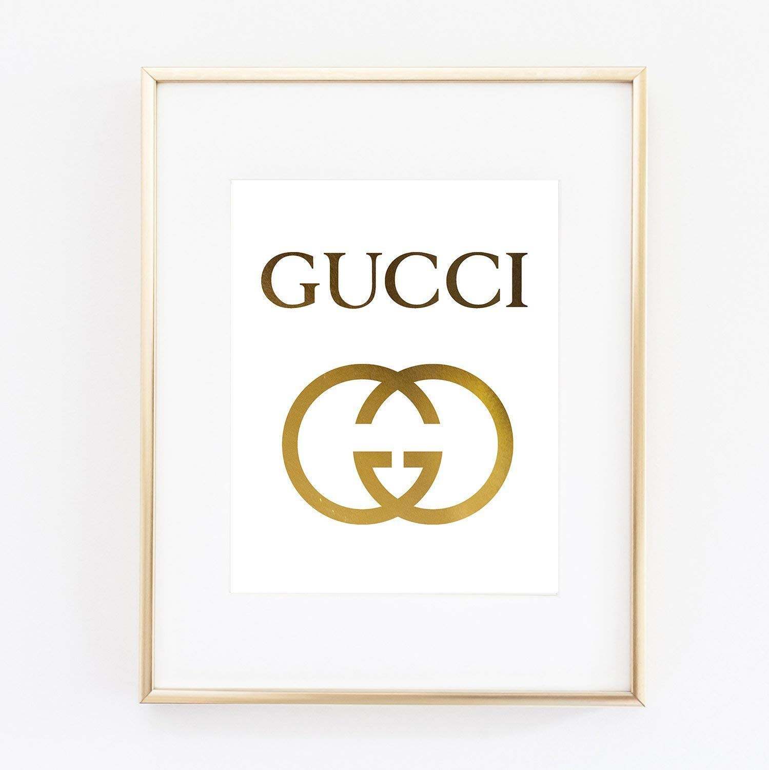dec412c1633412 Galleon - Gucci Logo Poster Real Gold Foil Print Wall Art Prada Marfa  Distance Like Gossip Girl Fashion Color Gold And White Poster 0541