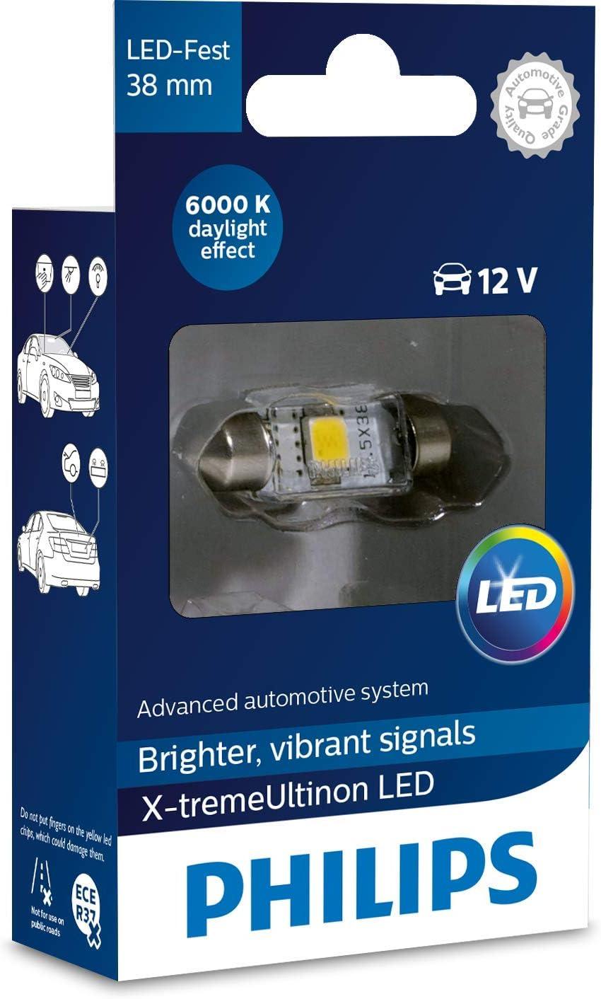 Safego 2x T10 W5W LED 6000K 36 SMD 3014 LED remplacement Bulbe ext/érieures int/érieur Ampoules lumi/ère LED blanche pour voiture signal pas de canbus