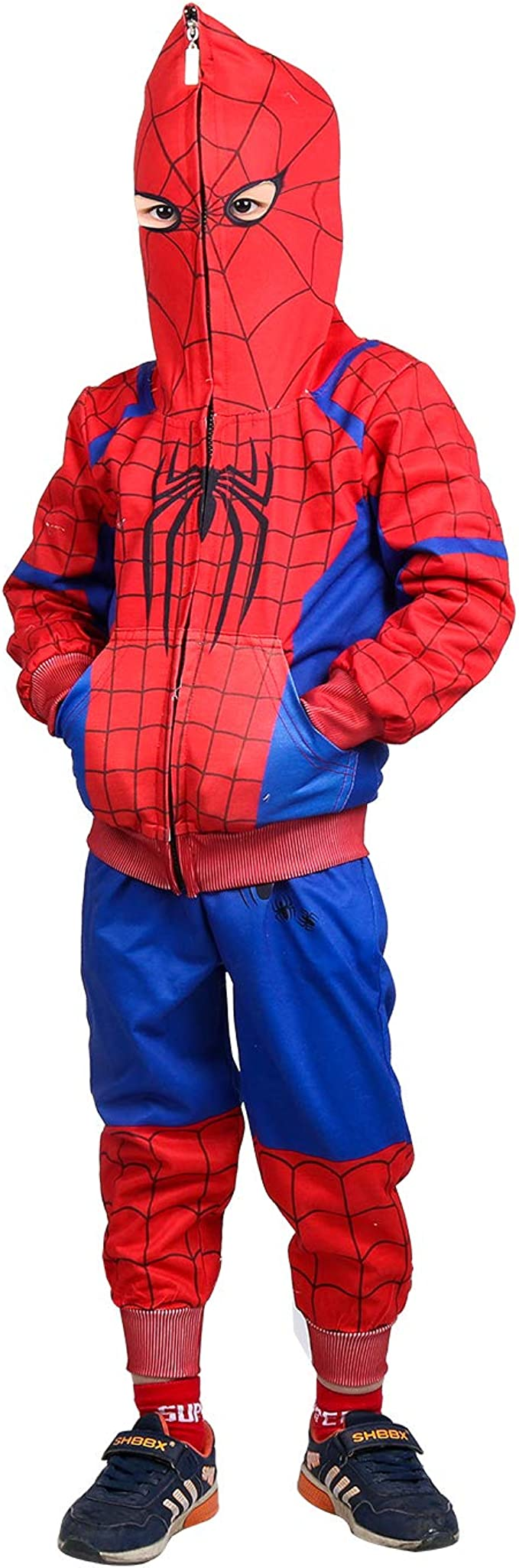Spiderman Sudadera con Capucha Cosplay Disfraz Cremallera ...