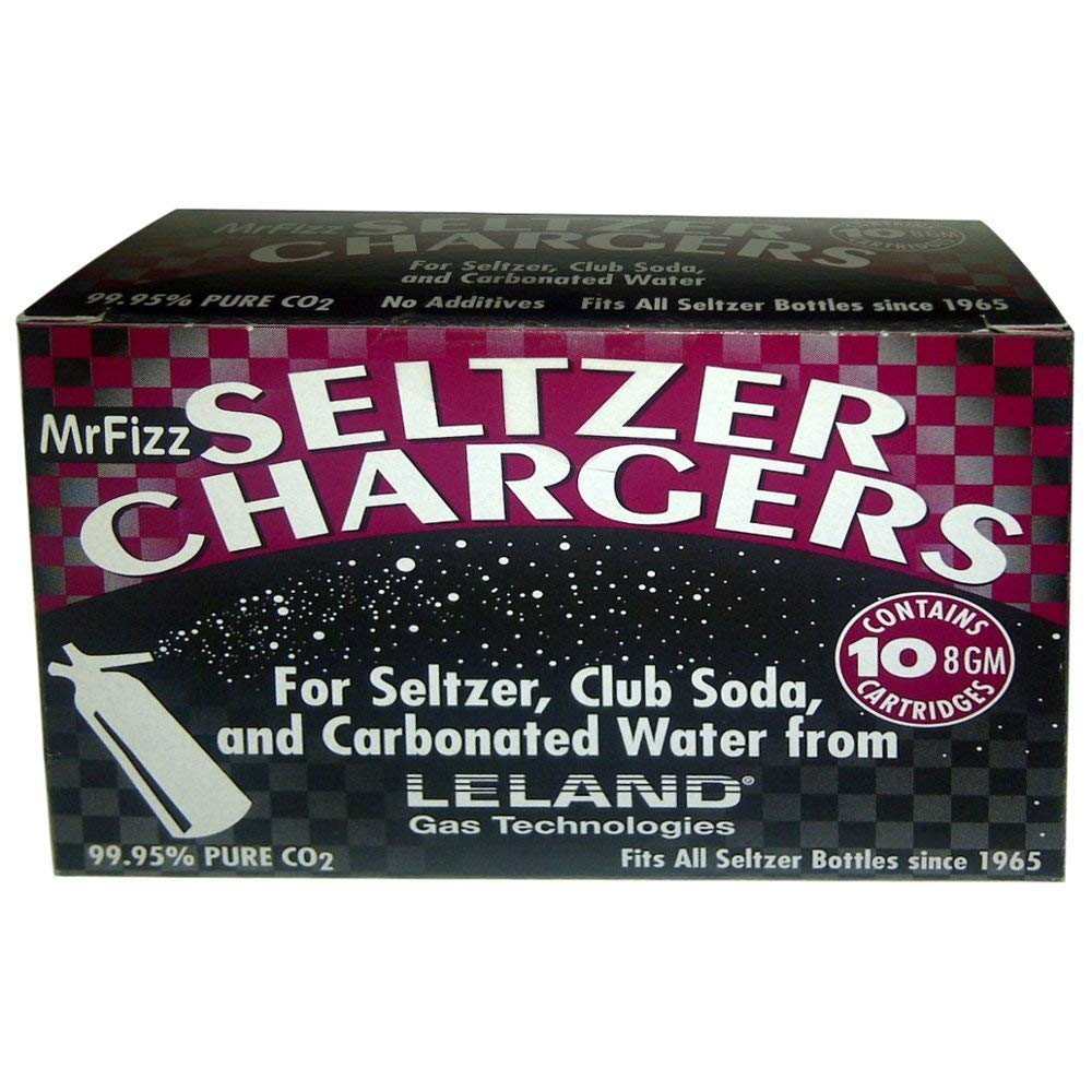 100 Leland (LE10 CO2) CO2 Soda Chargers - 8 Gram C02 Seltzer Water Cartridges For Use With Hamilton Beach Fizzini, and all 1Liter / Quart Soda Siphons        by Leland