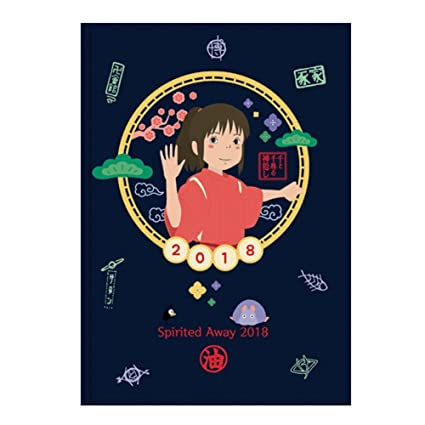 2018 Ghibli Studio Animation Spirited Away Diary Journal Weekly Planner Scheduler Datebook Notebook 50 X 73 Inches A Post Card Included