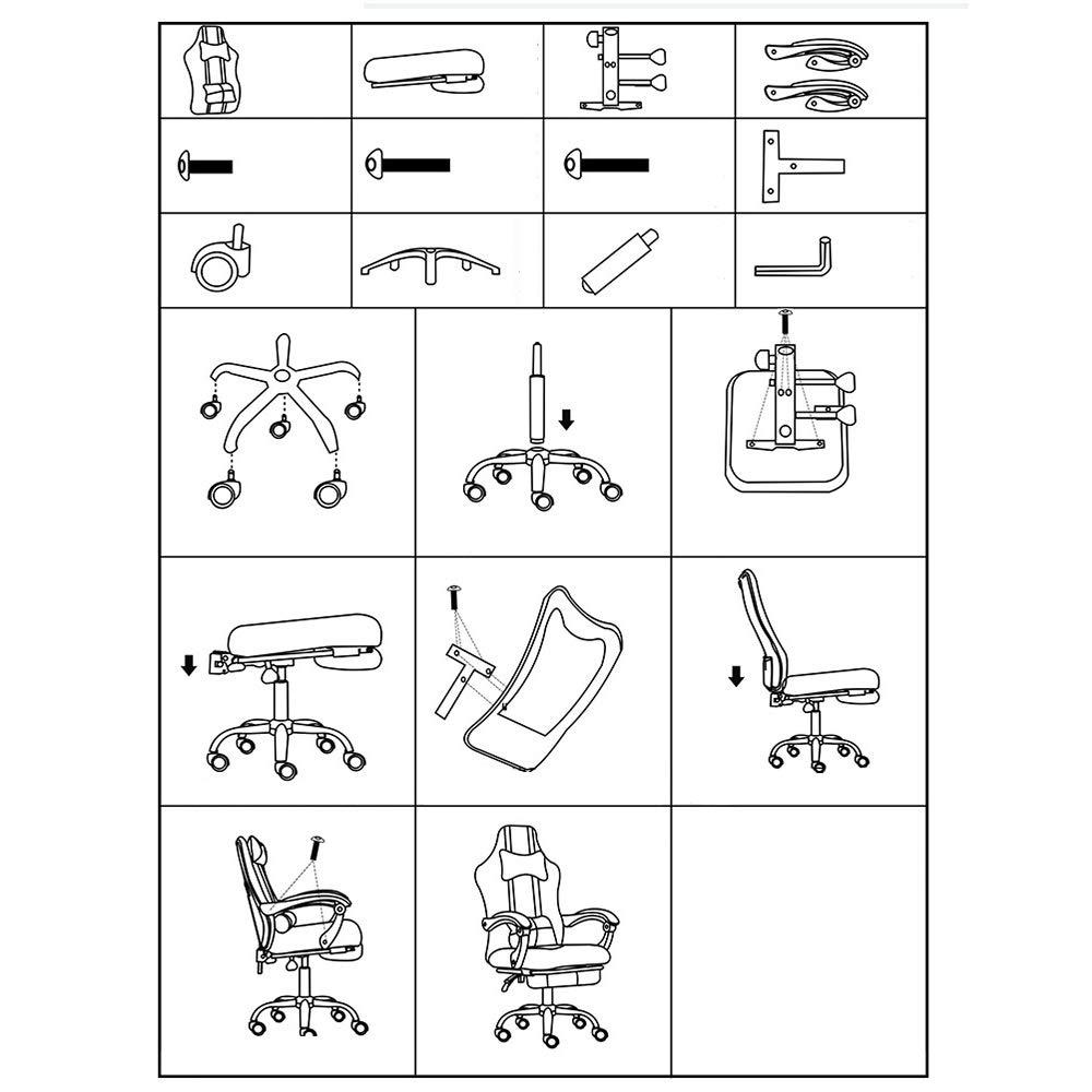 LJHA Swivel stol datorstol – med nätduk ryggstöd dubbel kudde hem kontor kakao liggande svängbar stol kontorsstol (färg: Grön) gRÖN