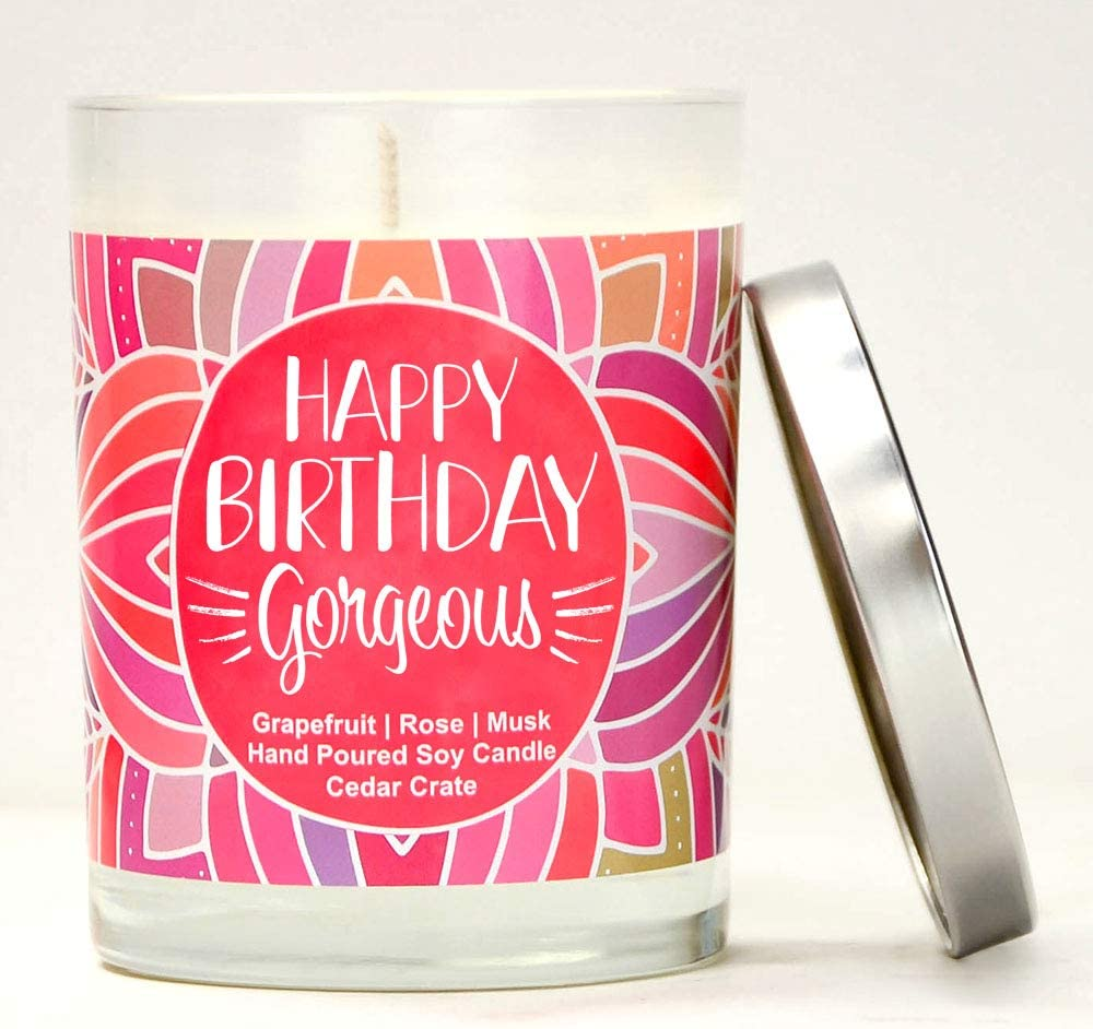 For Her Fun 41st Birthday Gifts For Him Scented Soy Candles Happy 41st Birthday Gift Candle Smells Like Fizzy Drink
