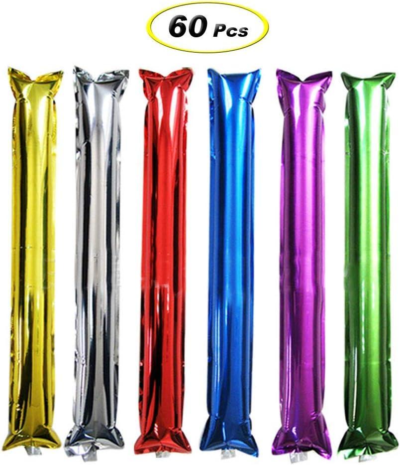 TOYMYTOY Cheer Sticks,Bam Bam Thunder Inflatable Noisemakers Stick Sets,60pcs