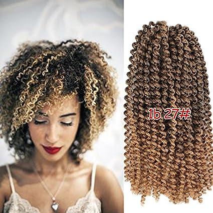 MaliBob Braid Xtrend Hair Extensions Kinky Curly Braiding Crochet Braids Synthetic Fiber 20 Strands #T30 color 9pcs