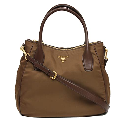 a9637ef9afde Prada Tessuto Sacca 2 Manici Brown Nylon Hobo Shoulder Bag Handbag Purse  BR4992: Amazon.ca: Shoes & Handbags