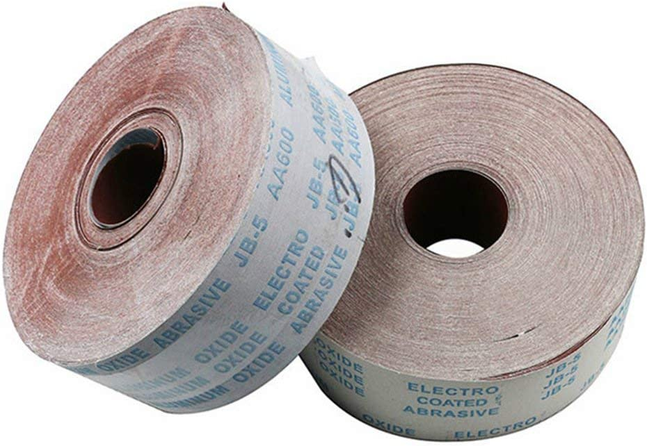 Wide Aluminium Oxide Roll Polishing Sandpaper for Grinding Polishing Tools Metalworking Dreme OMAS 10meter 320 Grit 4.5 Inch 115mm