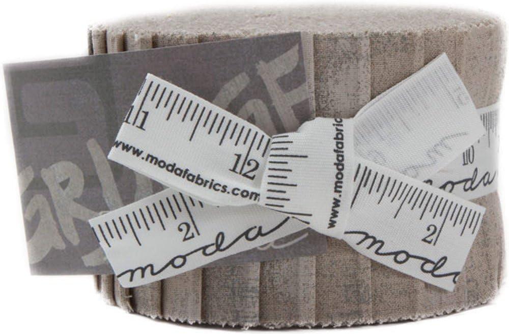 "Moda Jelly Roll ~ Grunge   ~  Basic Grey ~ 100/% Cotton ~  2 1//2/"" strips"