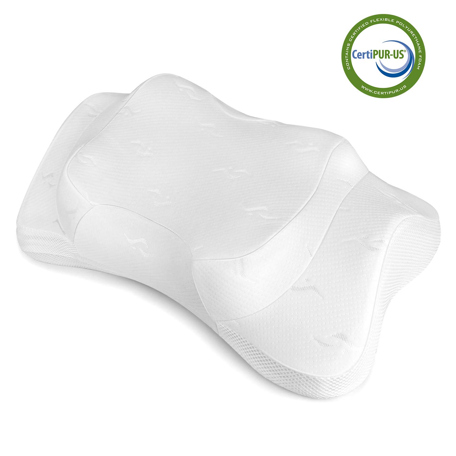 Memory Foam Pillow - Memory Foam Orthopedic Pillow for Sleeping, Cervical Pillow, Ergonomic Bed Pillow for Side Sleepers Back Sleepers, Neck Support Pillow with Hypoallergenic Pillowcase