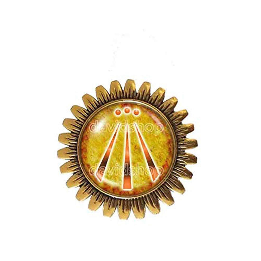 Handmade Fashion Jewelry Symbol Skull Druid Awen Brooch Badge Pin Cosplay