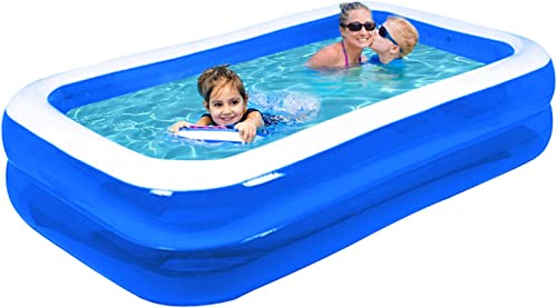 Inflatable Full-Size Pool, Kiddie Pool, Full-Sized Blow Up Family Kids Swimming Pool, 120 X 72 X 20 , Ages 6 , Outdoor, Garden, Backyard, Summer Water Party