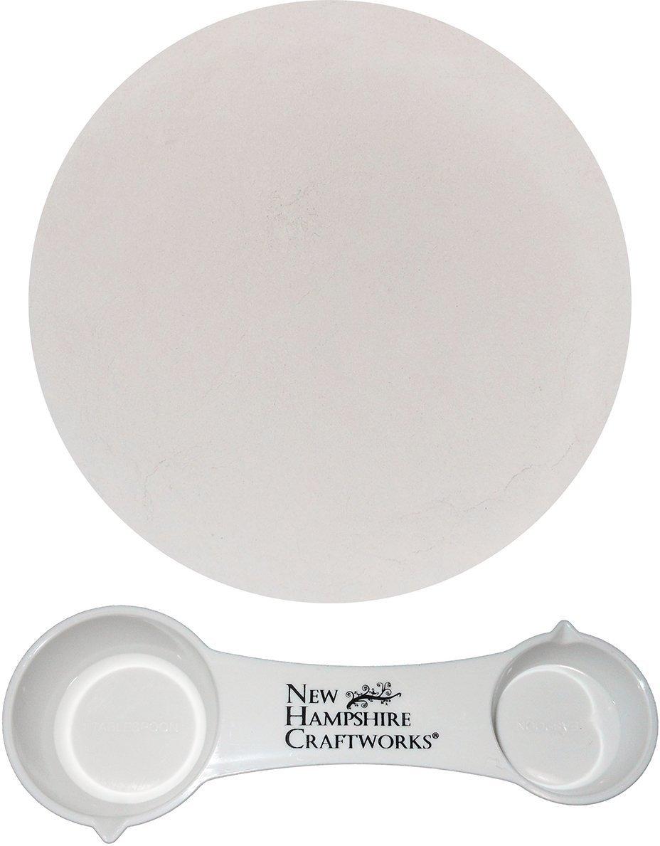 Bullseye Glass Shelf Primer Kiln Wash and NHC Measuring Spoon Set - 1lb Bag New Hampshire Craftworks