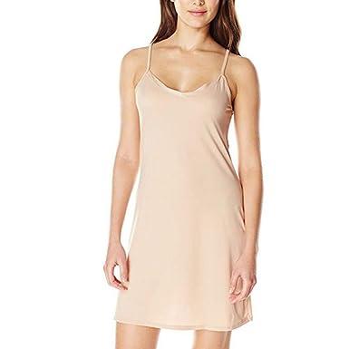 5df620c35987 Women Casual Solid Spaghetti Short Dress Smooth Sleeveless Dress Slips  Under Dress at Amazon Women's Clothing store: