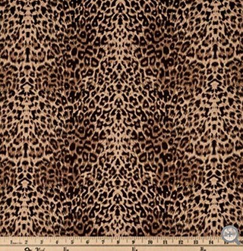 - Brown Black Leopard Spots Valance Sale Cotton Window Curtain Treatment 43W x 15L