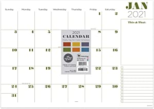 TF PUBLISHING 2021 Professional Medium Desk Pad Monthly Blotter Calendar - Appointment, Academic, Note, Holiday Tracker - Home or Office Planning/Organization - Premium Thick Uncoated Paper 17
