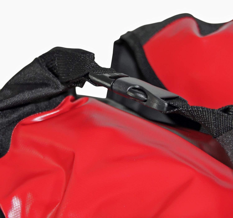 Red Loon Pro 3--Fold Pack Bag Red//Black Bicycle Backpack Pannier Bag Heck Bag Waterproof