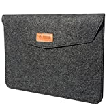 TIZUM Premium 15.6-Inch Felt Laptop Sleeve (Slate Grey)
