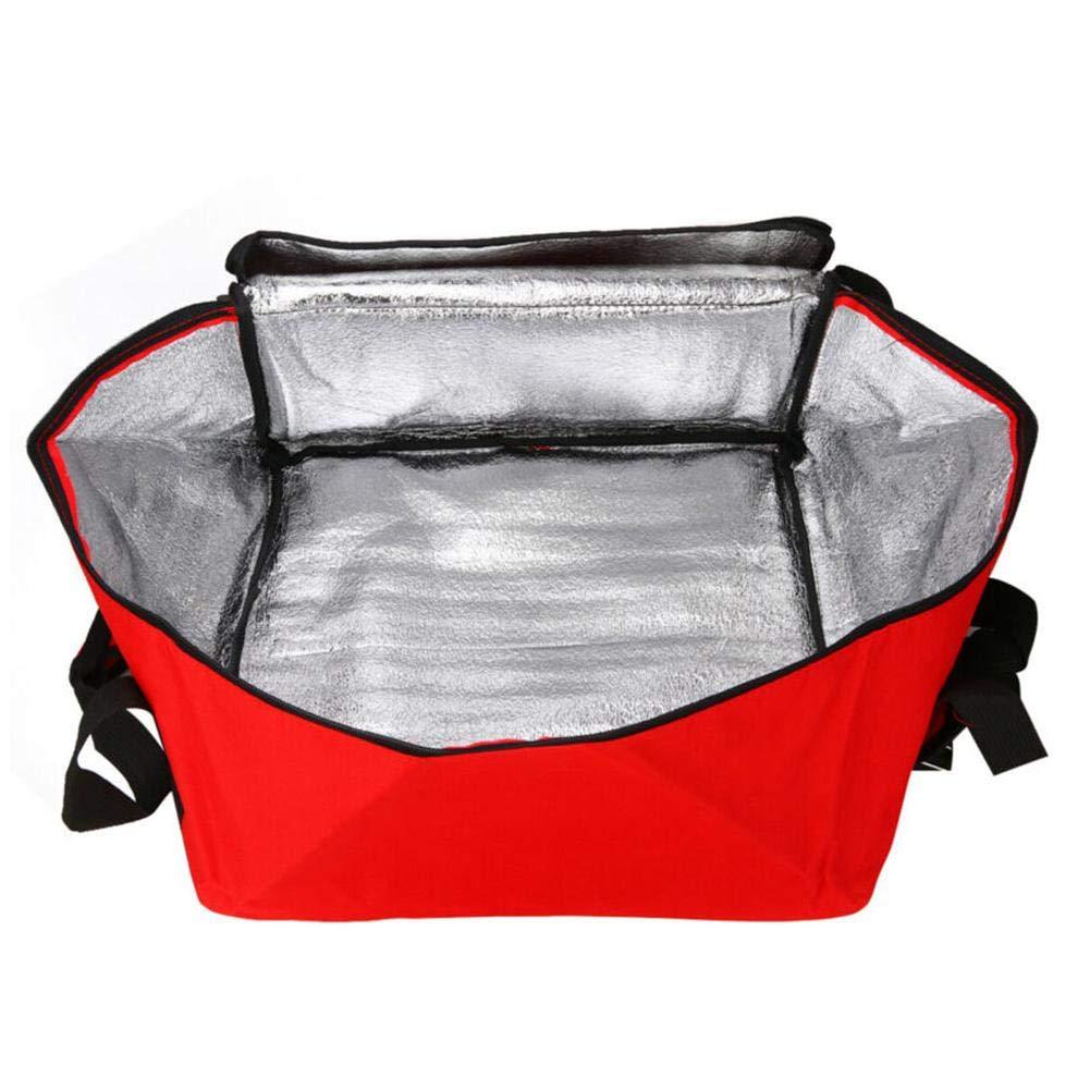 16 pulgadas de salida de la pizza bolsa,con aislamiento de picnic fresco bolso,Bolsa port/átil de entrega de alimentos Fiestas//picnic//Beach para mantener la comida caliente//ColdTransport,42/×42/×23cm