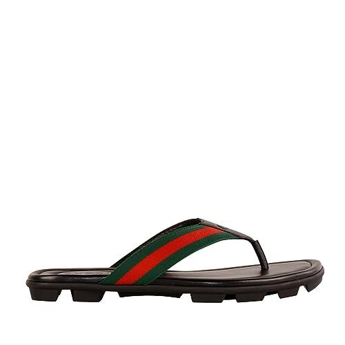 87a892bc9 Gucci Men s 429362H91A08480 Black Leather Flip Flops  Amazon.ca  Shoes    Handbags
