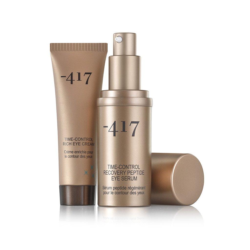 -417 Dead Sea Cosmetics Time Control - Rich Eye Cream + Recovery Peptide Eye Serum