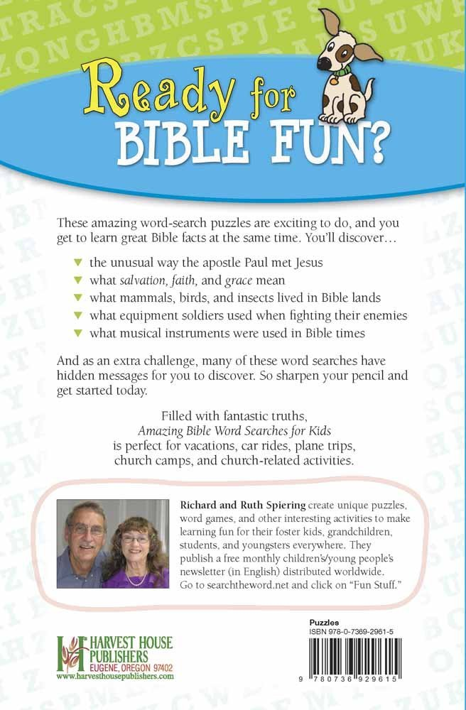 Amazing Bible Word Searches for Kids: Amazon co uk: Spiering Richard