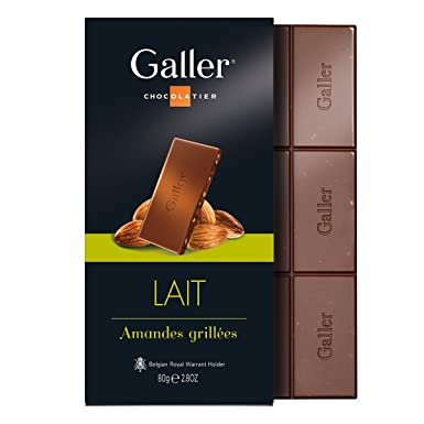 Galler - Tableta de chocolate con leche y almendras