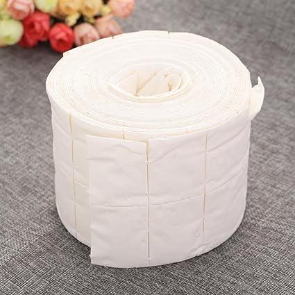 500Pz Toallitas Pad de algodón de celulosa Reconstrucción Uñas Gel y acrílico: Amazon.es: Belleza