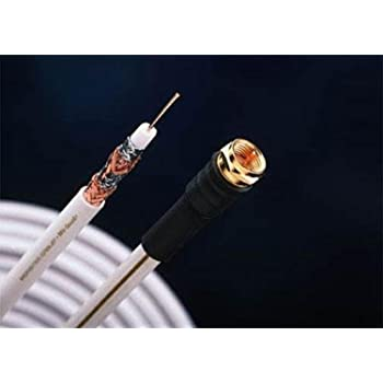 Monster Cable Direct Burial MVQuad RG6 RF and Video Cable in EZ-Pull Box - White - 500 Ft