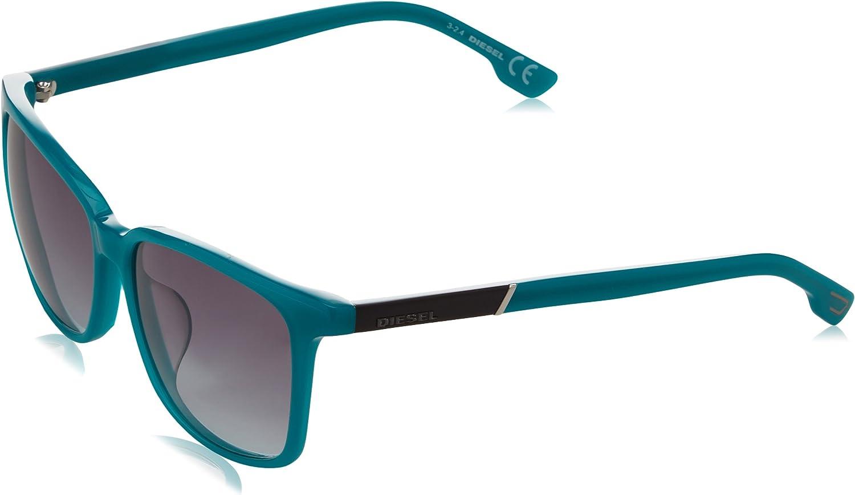 Diesel Wayfarer Eye Gafas de sol, Azul (Blue), 57.0 Unisex Adulto