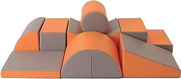 grey//white IGLU Brand Soft Play Equipment XL Soft Play Shapes Activity Toys with ANTI SLIP