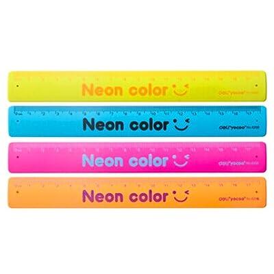 Regla Slap Band 180mm Juguetes Fiestas Escuela de medición Regla flexible Papel inastillable Colores aleatorios 1Pc: Oficina y papelería
