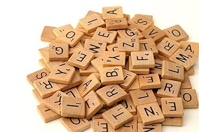 Amazon.com: foreverstore Madera Piezas 100 madera Scrabble ...