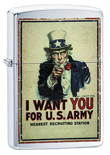 Zippo I Want You for U.S. Army Pocket Lighter