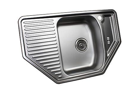 Acciaio inox cucina lavello lavabo lavello da incasso in acciaio ...