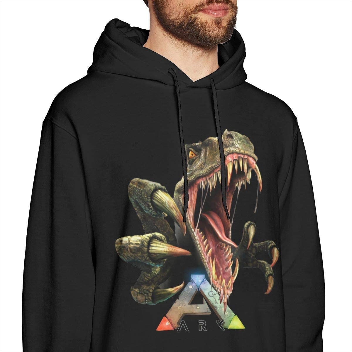 CHICLI Ark Survival Evolved Mens Long Sleeve Sweatshirts Man Hoodies Black