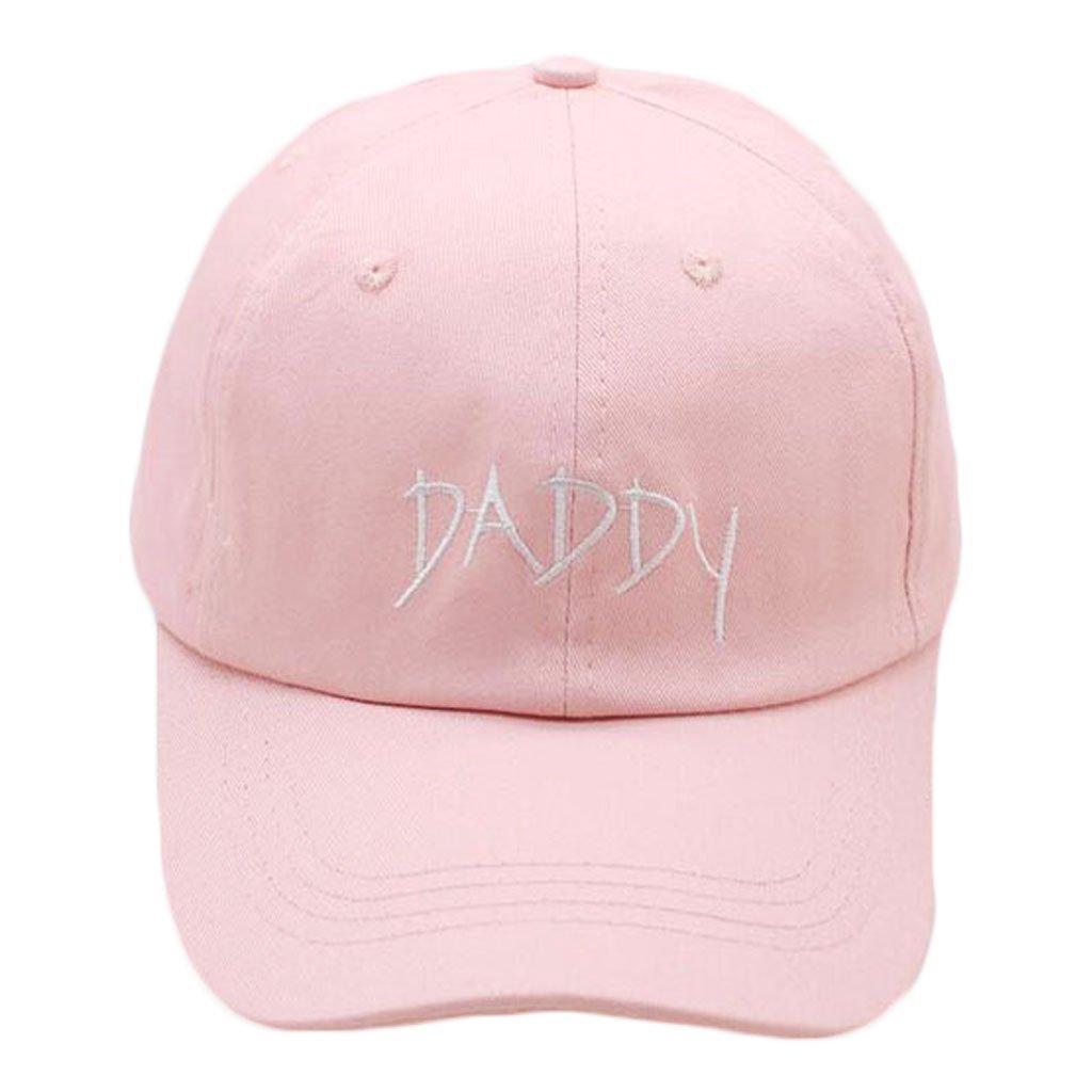 Lamdoo Daddy Dad Hat Baseball Cap Polo Style Adjustable Cotton Baseball Pink