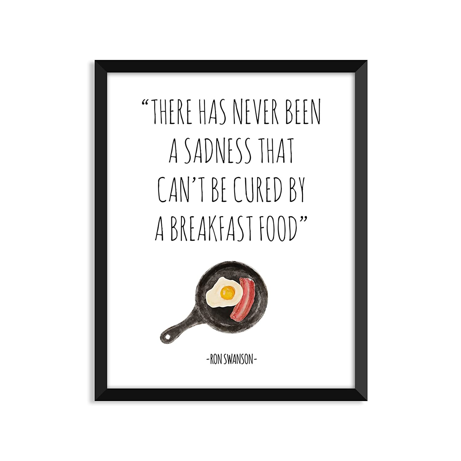 Parks and Recreation Home Decor Serif Design Studios Ron Swanson Funny Quote Minimalist Poster Leslie Knope Breakfast Food