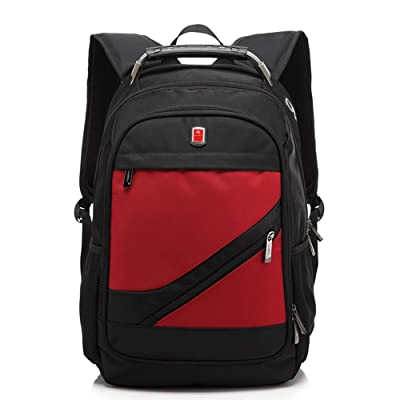 Business Computer Backpack for 15.6 Inch Laptop Large Capacity Travel Bag Water Resistant College Student School Bookbag for Men Women Red