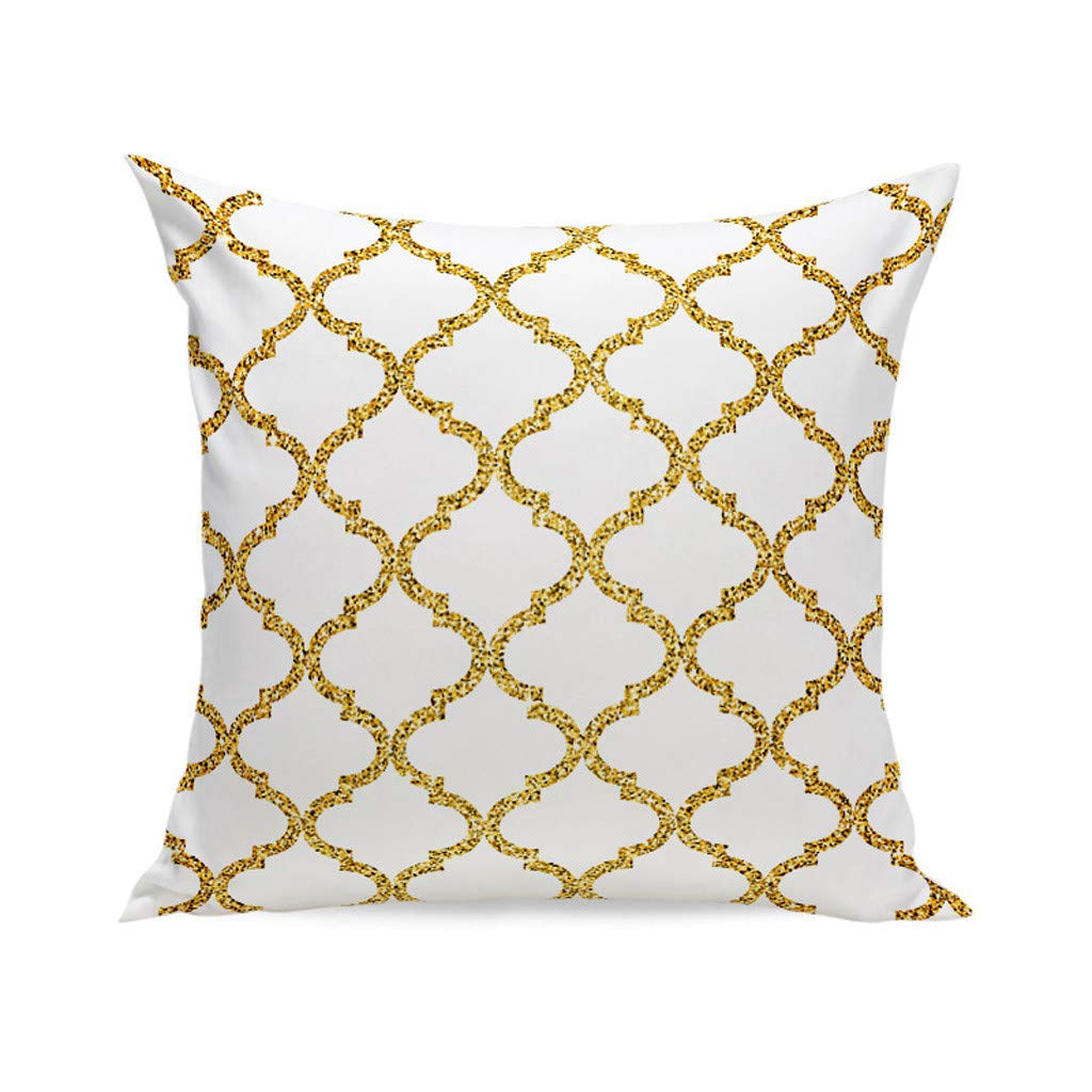 """Chenway Geometric Style Throw Pillow Case,18"""" x 18"""" Pillowslip Zipper Cushion Festive Decoration CaseCover for Sofa Living Room Home Decor (B)"""