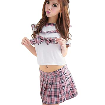 41a76fc978 Glantop Hot Sexy Adult School Girl Outfit Lingerie Set Role Play Uniform  Costume Anime Fancy Dress