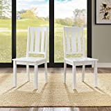 Better Homes and Gardens Solid Wood Construction Mission Chairs, Set of 2 (White)