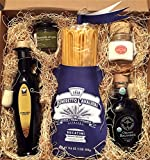 Pasta Connoisseur Gift Box with Extra Virgin Olive Oil, Organic Balsamic Vinegar, Wild Dried Oregano, Italian Sea Salt, Benedetto Cavalieri Bucatini Pasta Gourmet Gift Basket